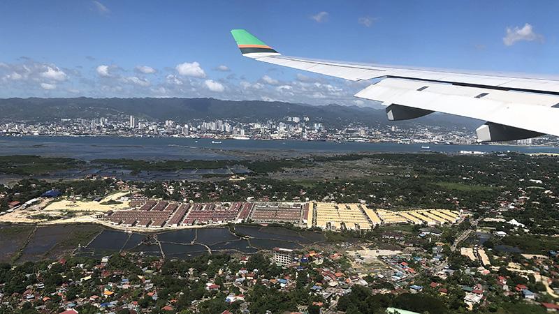 Flying into Cebu.
